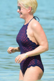 Emma Forbes Stills in Swimsuit at a Beach in Barbados 2017/12/21