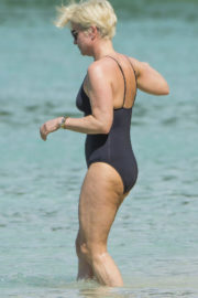 Emma Forbes Stills in Swimsuit at a Beach in Barbados 2017/12/22