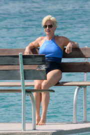 Emma Forbes Stills in Swimsuit at a Beach in Caribbean 2017/12/26