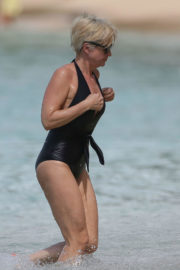 Emma Forbes Stills in Swimsuit at Sandy Lane Hotel in Barbados 2017/12/28