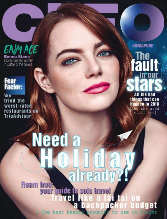 Emma Stone Stills in Cleo Magazine, Singapore January 2018 Issue