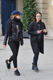 Emma Watson with Her Friends Stills Out and About in Paris