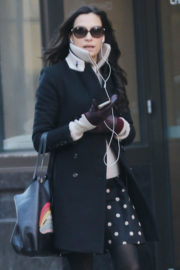 Famke Janssen Out and About in New York 2017/12/21