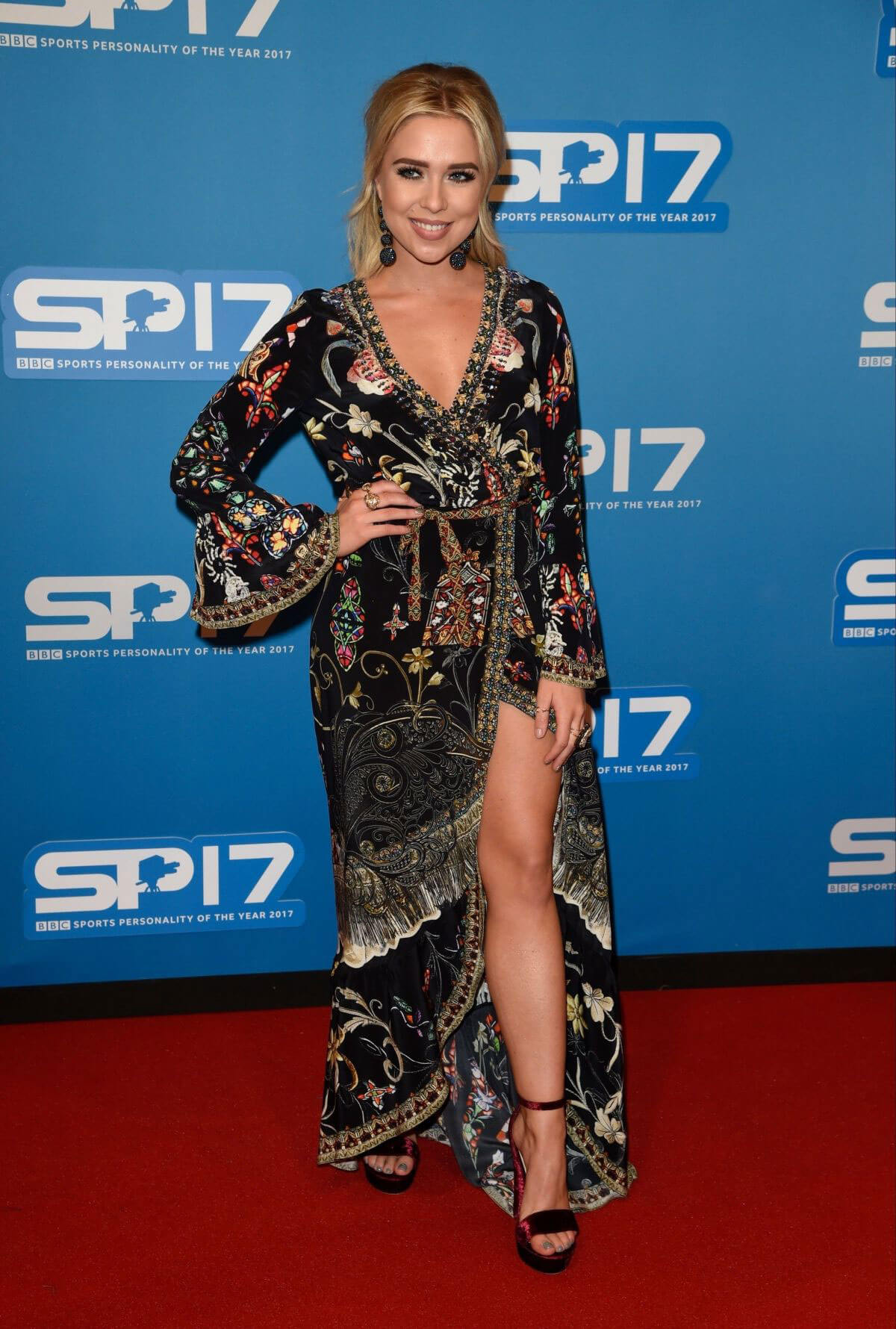 Gabby Allen Stills at Sports Personality of the Year Awards in Liverpool 2017/12/17