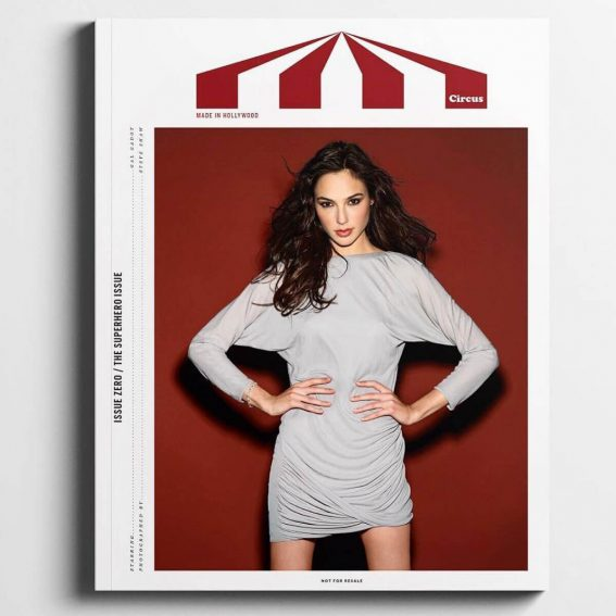 Gal Gadot Stills in Circus Magazine, Made in Hollywood Issue Zero January 2018