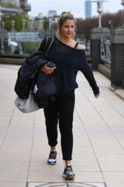 Gemma Atkinson Stills Out and About in Manchester 2017/12/05