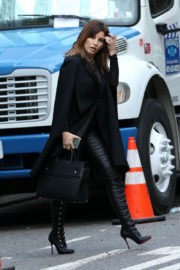 "Gina Gershon Stills on the Set of ""Fashion Victim"" in New York"