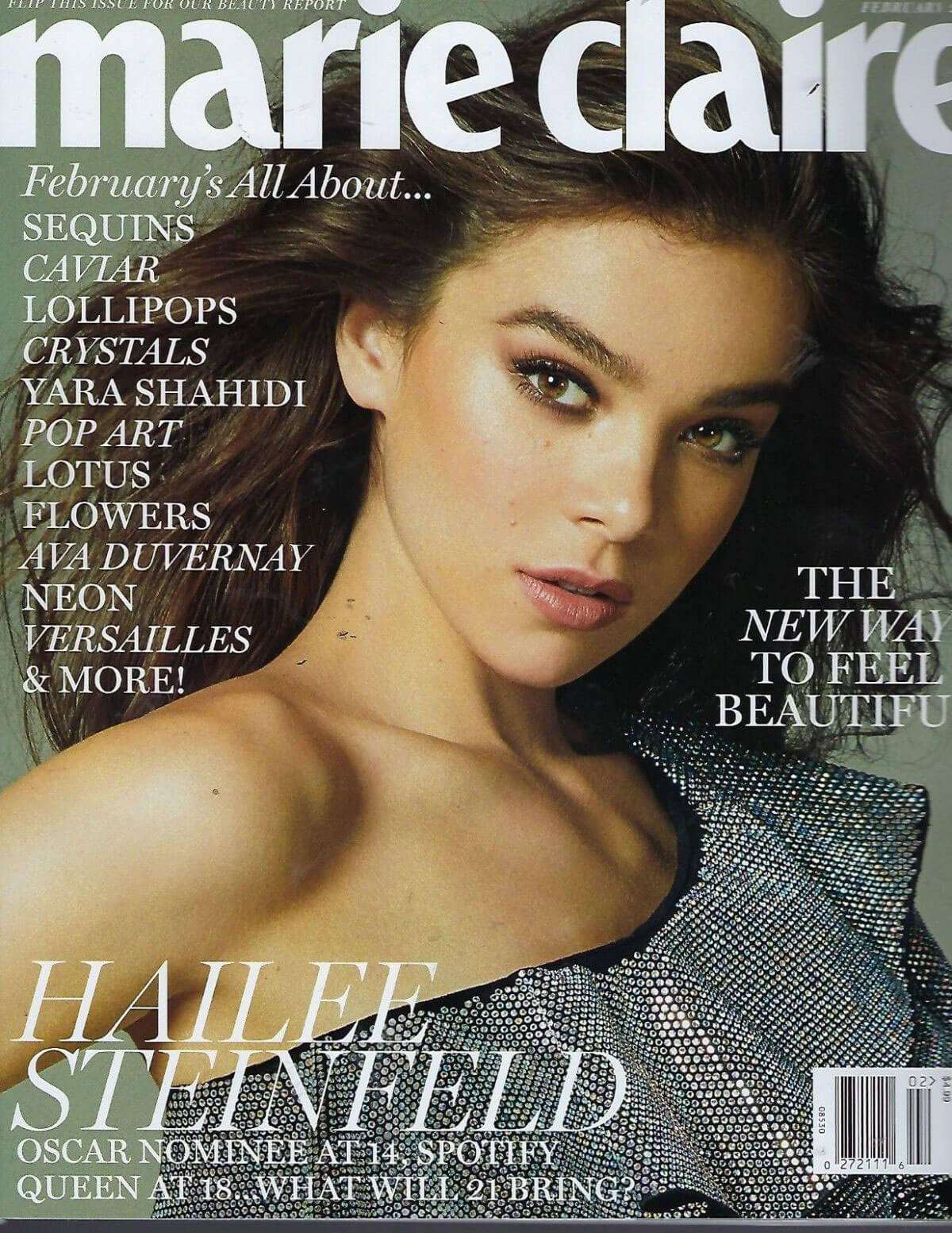 Hailee Steinfeld Stills in the Marie Claire Magazine, February 2018 Issue