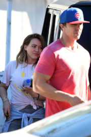 Hilary Duff Stills Arrives at a Gym in Los Angeles 2017/12/13