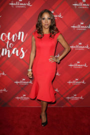 "Holly Robinson Peete Stills at ""Christmas at Holly Lodge"" Screening in Los Angeles 2017/12/04"