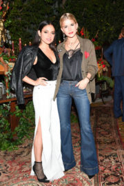 Inanna Sarkis Stills at Aalice & Olivia Denim Launch Party in Los Angeles 2017/11/30