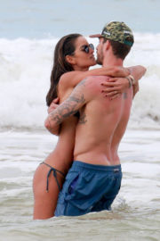 Izabel Goulart and Kevin Trapp Stills on the Beach in Fernando De Noronha 2017/12/29
