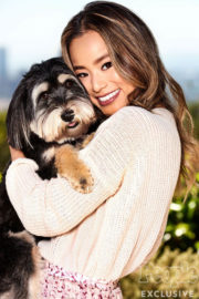 Jamie Chung Poses for People Pets, April 2017