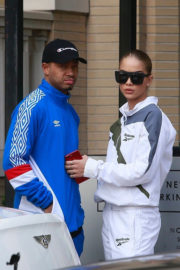 Jasmine Sanders and Terrence J Stills Out Shopping in Beverly Hills 2017/12/24