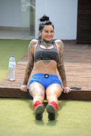 Jemma Lucy Stills Working Out on Holiday in Gran Canaria 2017/12/27