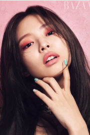 Jennie Kim Stills from Blackpink for Harper's Bazaar Magazine, January 2018