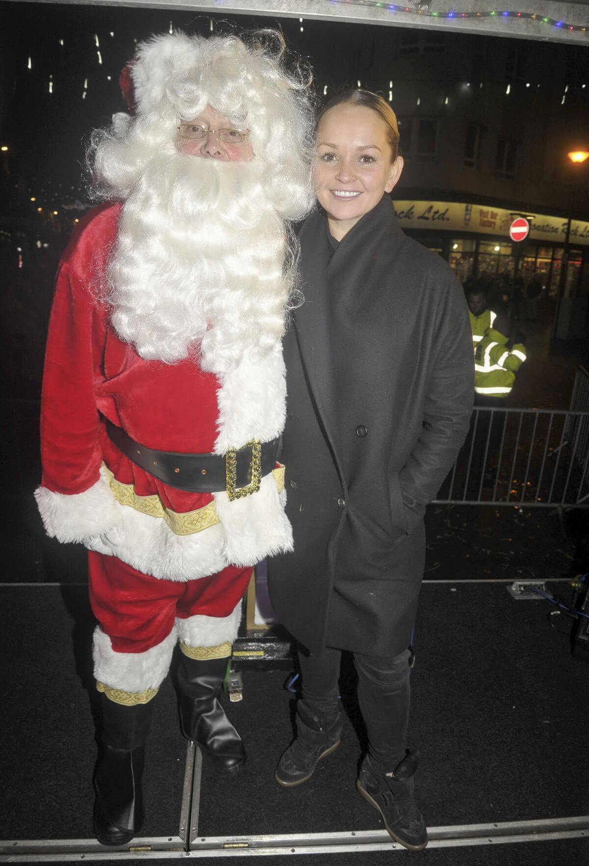Jennifer Ellison Stills at a Christmas Light Switch On Events in Blackpool