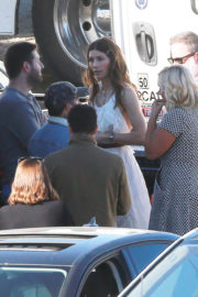 Jessica Biel and Justin Timberlake Stills on the Set of Untitled Music Video in Los Angeles 2017/12/13