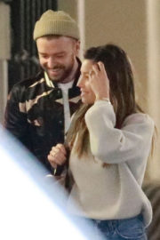 Jessica Biel and Justin Timberlake Stills Out in Brentwood 2017/11/30