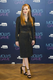 Jessica Chastain Stills at Molly's Game Photocall in Madrid 2017/12/04