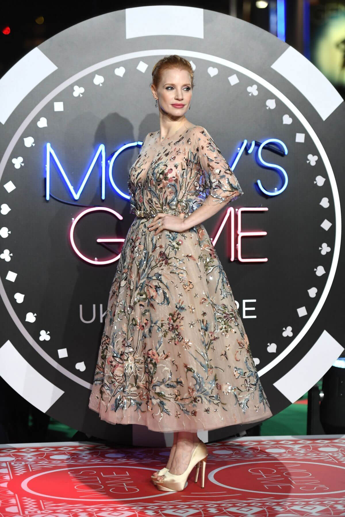 Jessica Chastain Stills at Molly's Game Premiere in London 2017/12/06