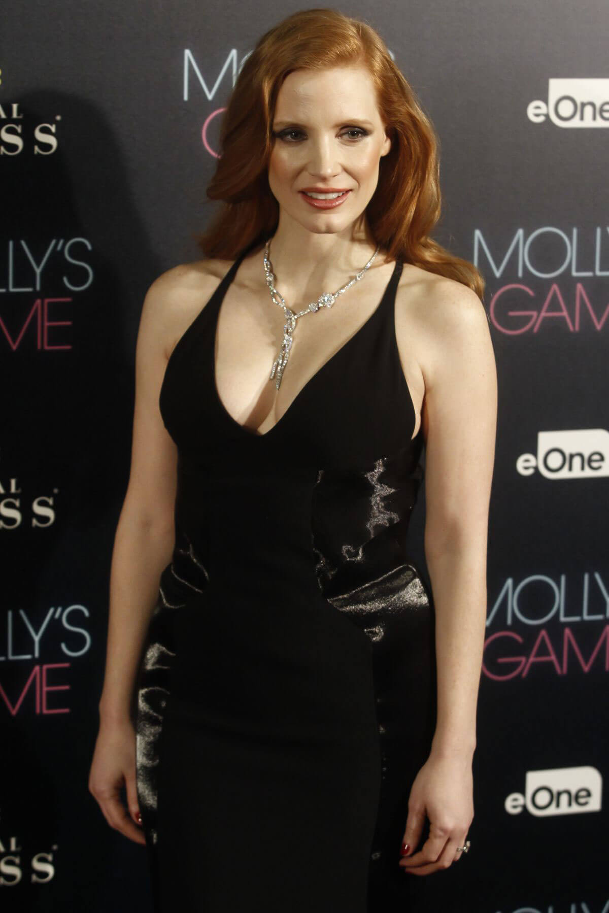Jessica Chastain Stills at Molly's Game Premiere in Madrid 2017/12/04