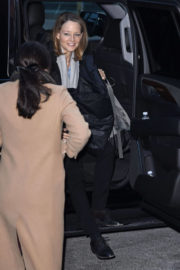 Jodie Foster Stills Arrives at This Morning Studio in New York 2017/12/11
