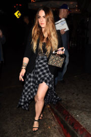 JoJo Levesque shows off beautiful legs Leaves Chateau Marmont in Los Angeles