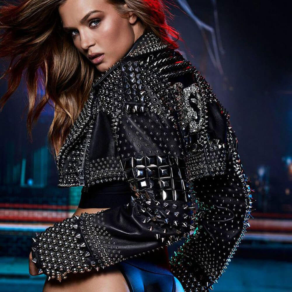 Josephine Skriver Poses for Victoria's Secret & Balmain