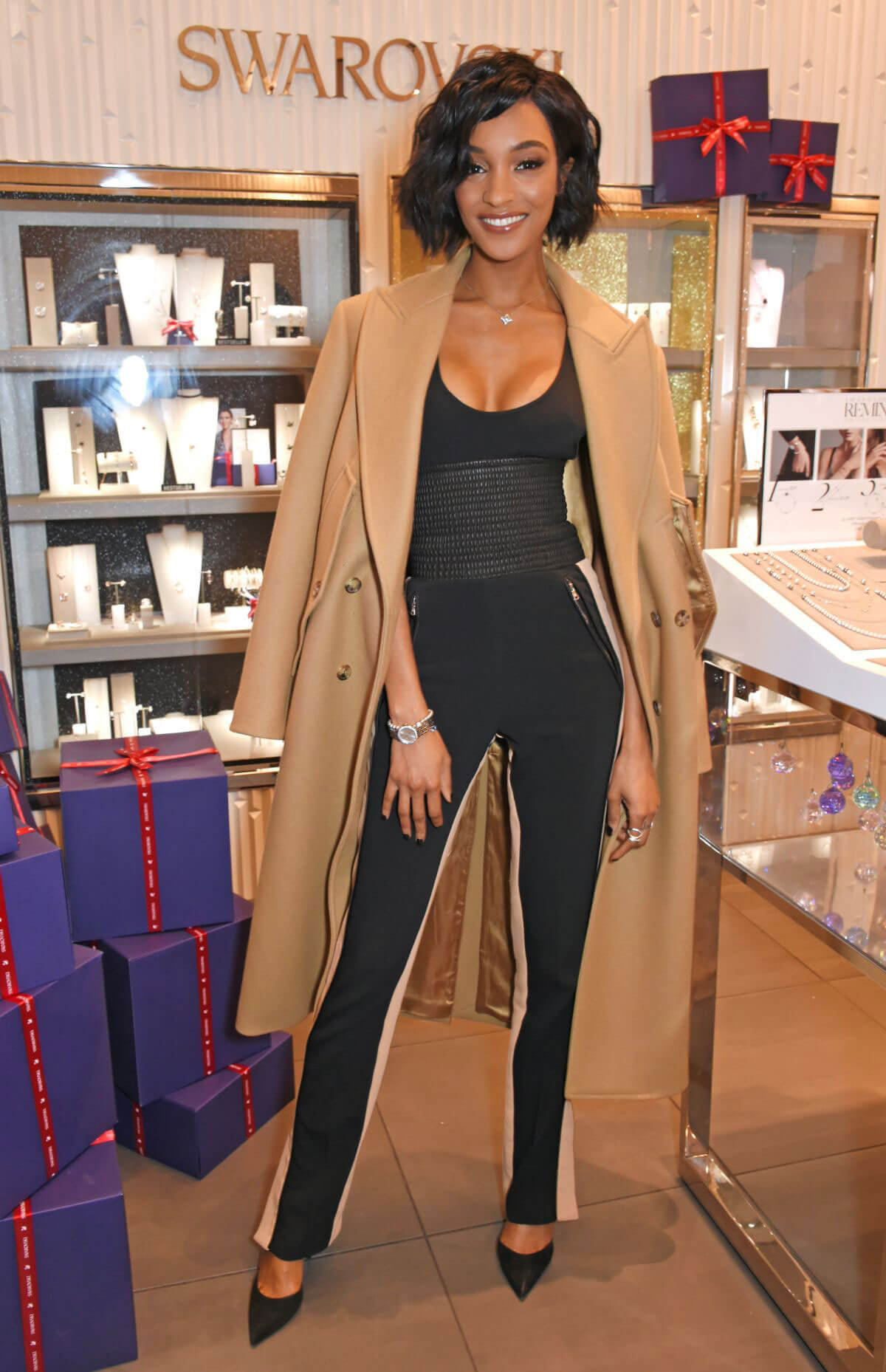 Jourdan Dunn Stills at Exclusive Swarvski Meet and Greet in London 2017/12/15