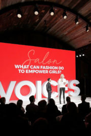Karlie Kloss in Sweater & Black Ankle Tights Speaks at #bofvoices in Oxford