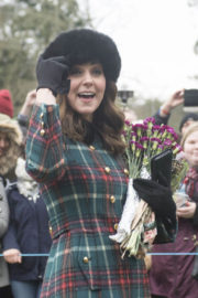 Kate Middleton and Meghan Markle Stills at Christmas Day Service in King's Lynn 2017/12/25