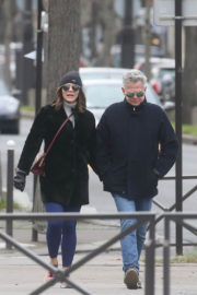 Katharine McPhee and David Foster Stills Out in Paris 2017/12/26