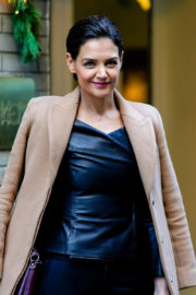 Katie Holmes Stills at Cosmo's 100 Most Powerful Women Luncheon in New York 2017/12/11