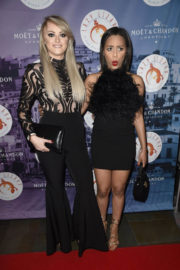 Katie McGlynn and Tisha Merry Stills at Lazy Lizzard Club Launch in Manchester 2017/12/06