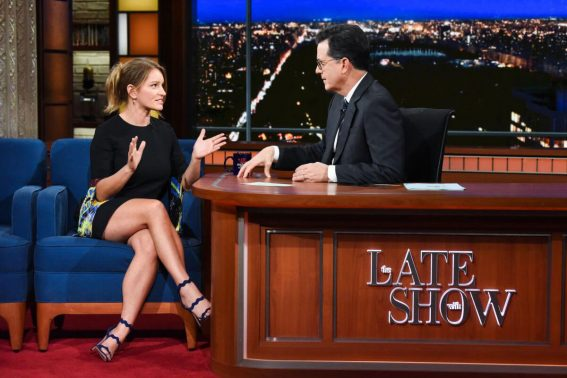 Katy Tur Stills at Late Show with Stephen Colbert 2017/11/12