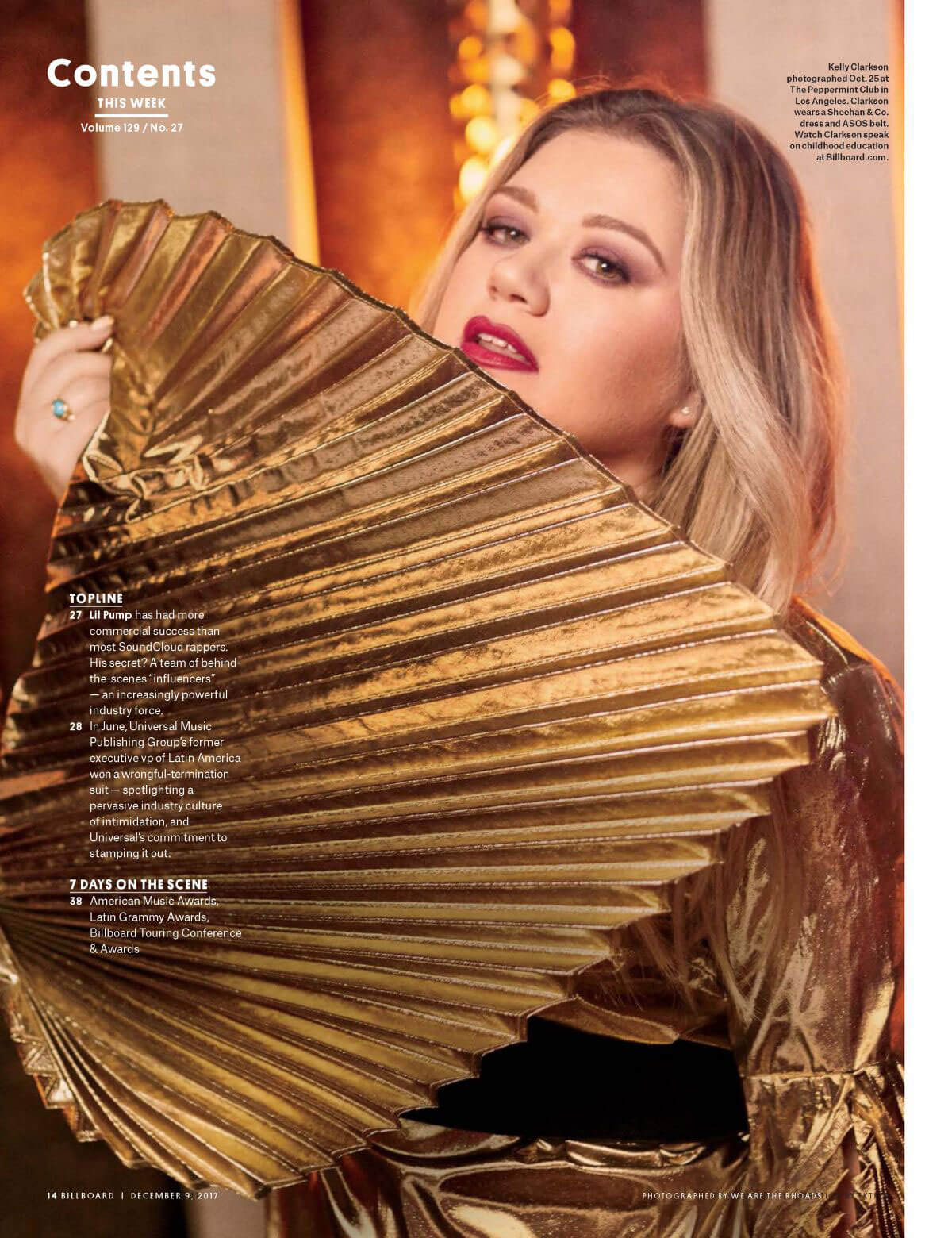 Kelly Clarkson Stills in Billboard Magazine, December 2017