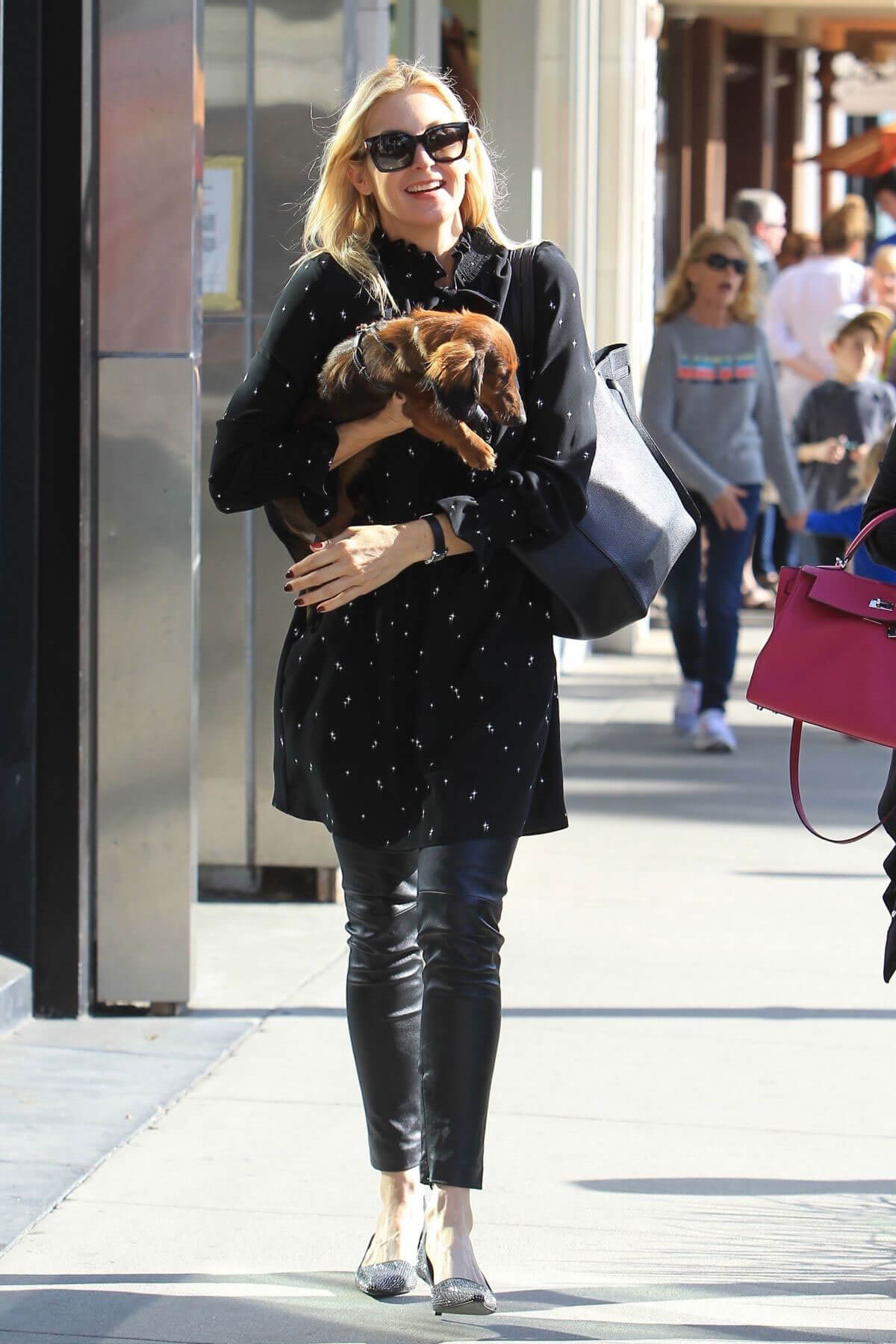 Kelly Rutherford Stills Out for Lunch with Her Dog in Beverly Hills