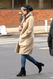 Lea Michele Stills Out for Lunch in New York 2017/12/18