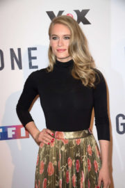 Leven Rambin Stills at Gone TV Series Photocall in Paris 2017/12/13