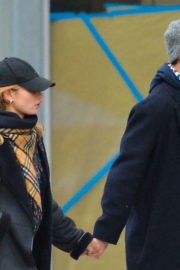Lily James and Matt Smith Stills Out in New York 2017/12/03