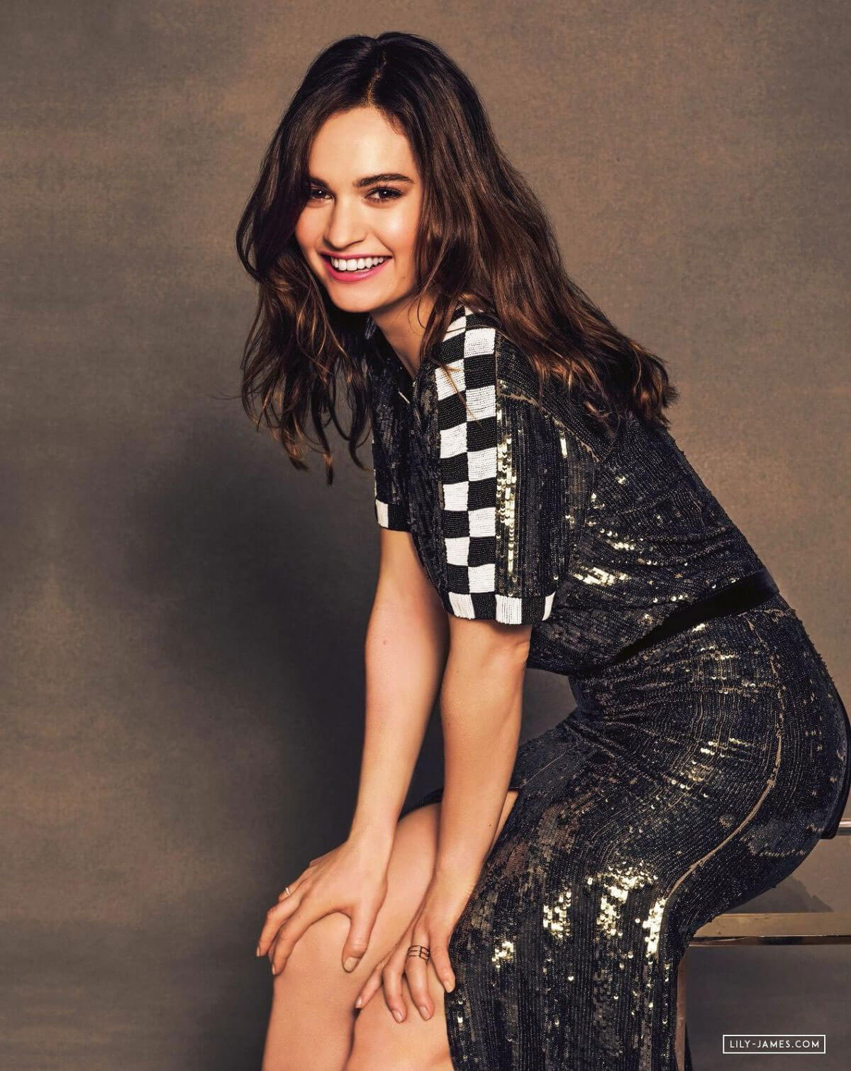 Lily James Poses For Baby Driver 2017 Promos Photos 178976 Celebskart