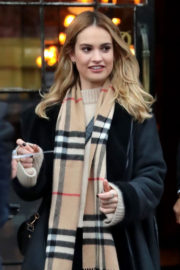 Lily James Stills Out and About in New York 2017/12/04