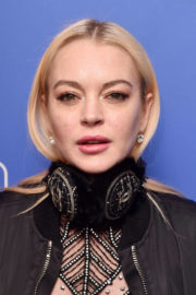 Lindsay Lohan Stills at Daily Mail Holiday Party in New York 2017/12/06