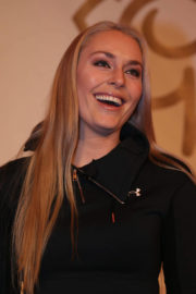 Lindsey Vonn Stills at Alpine Skiing Fis World Cup Press Conference in Lake Louise