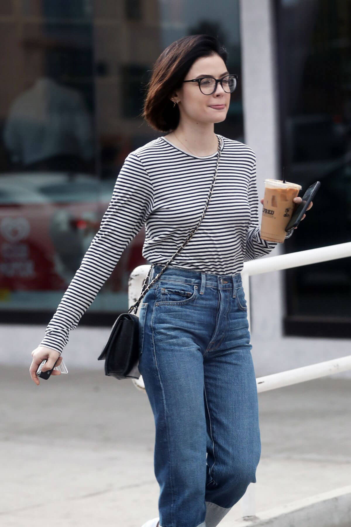 Lucy Hale Stills Out for Iced Coffee in West Hollywood 2017/12/20
