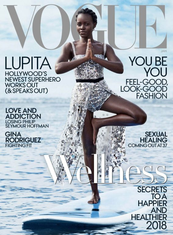 Lupita Nyong'o Poses for Vogue Magazine, January 2018 Cover Photos