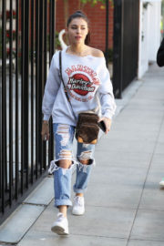 Madison Beer Stills in Ripped Jeans Out Shopping in West Hollywood