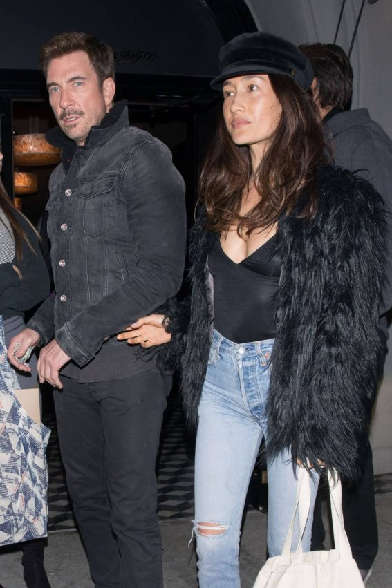 Maggie Q and Dylan McDermott Stills at Craig's Restaurant in West Hollywood