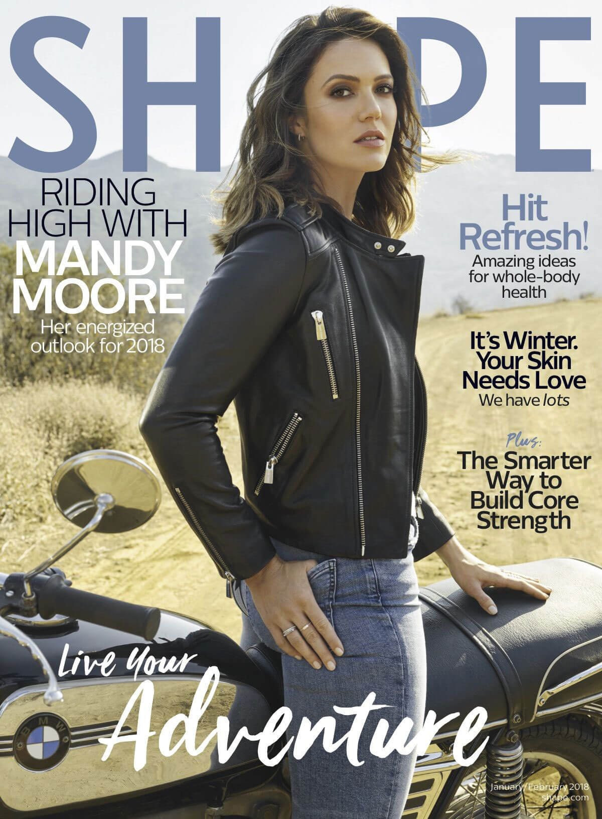 Mandy Moore Stills in Shape Magazine, January/February 2018 Issue